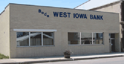 West Iowa Bank Bode location exterior