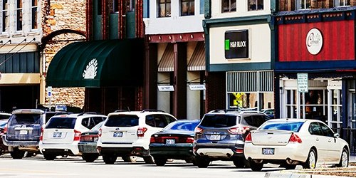 Downtown businesses. Commercial real estate lending available at West Iowa Bank.