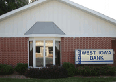 West Iowa Bank - Fenton office exterior